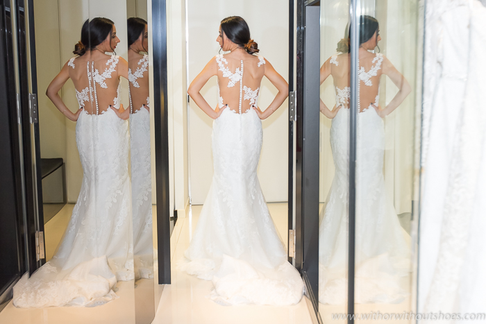 Rosa Clara vestido novia espalda al descubierto