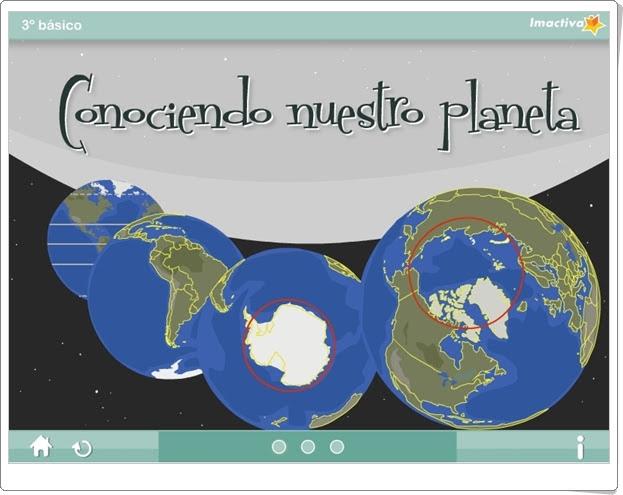 """""""Conociendo nuestro planeta"""" (Actividad interactiva de Ciencias Sociales de Primaria)"""
