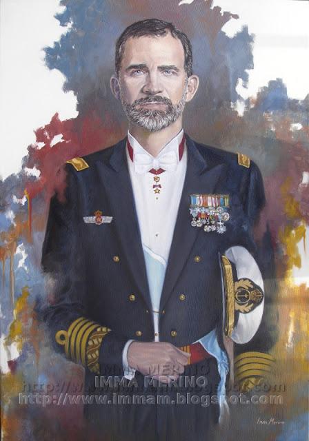 Retrato Rey, España, Oleo, pintura, cuadro, oil, fine art, realism
