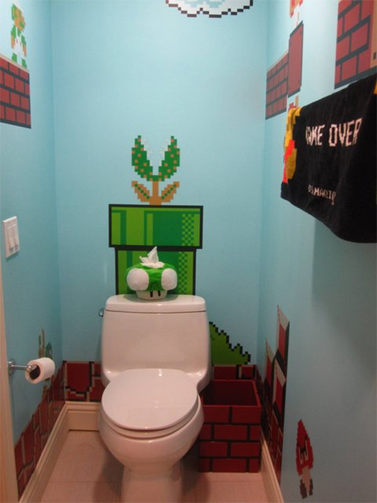 parede azul, banheiro decorado, banheiro geek, azul serenidade, serenity, decoração, decor