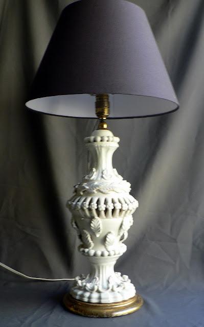 LAMPARA DE CERÁMICA DE MANISES AÑOS 60