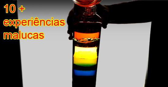 10 truques científicos com líquidos - Impressionantes e simples de fazer!