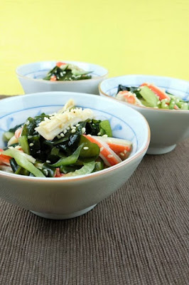 緑・赤・白の彩り和え物レシピ!きゅうりと2種の甘酢和え