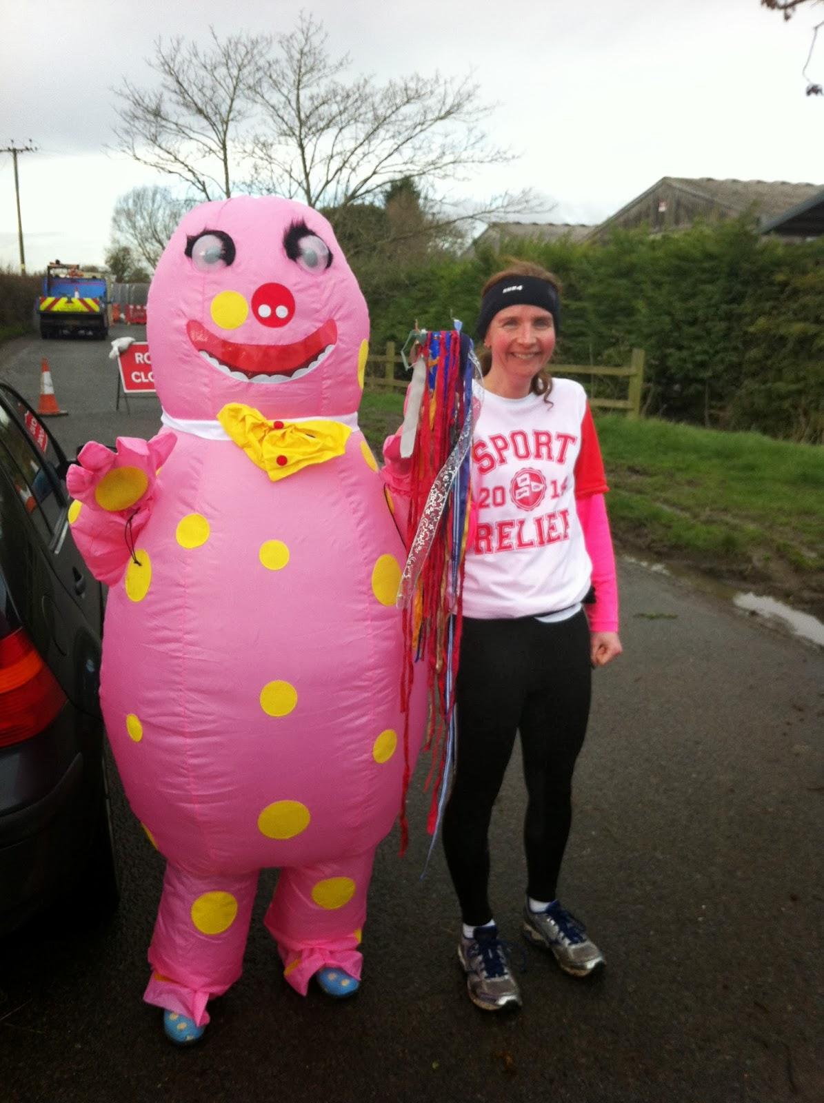 Team-Honk-baton-handover-Pink-Oddy-Mr-Blobby