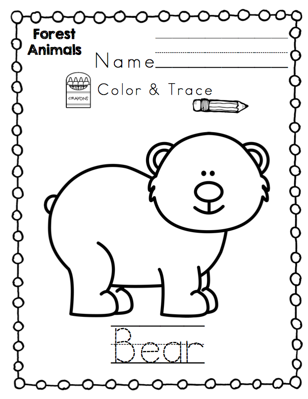 Forest Animals for Toddler's Printable ~ Preschool Printables