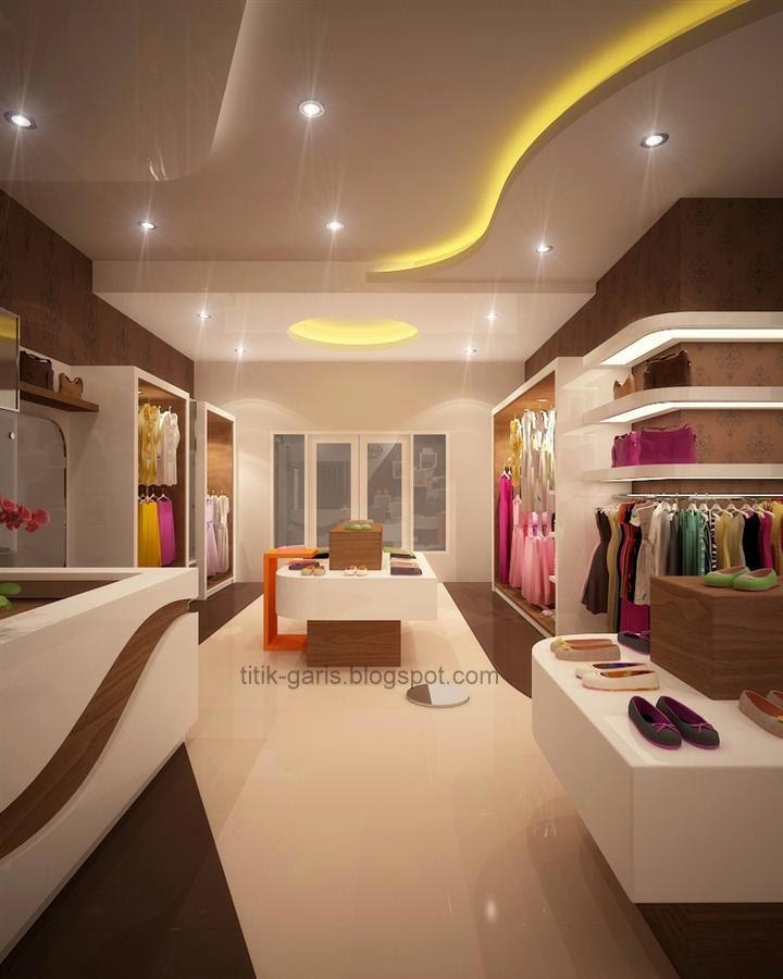 Desain Interior Butik Minimalis Modern Rumah Garis