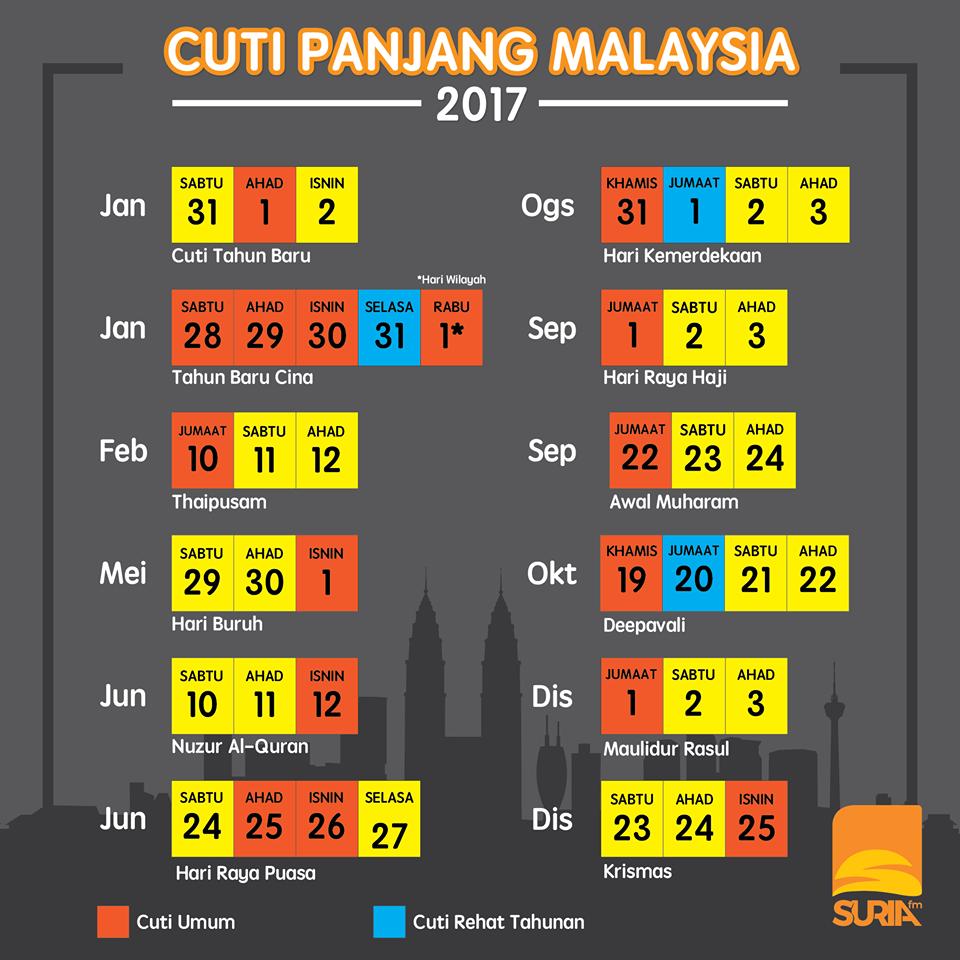 cuti panjang malaysia 2017