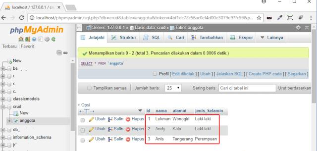 Memasukkan Data Ke Databese MySQLi Create 3 - Tutorial Lengkap Crud Php Mysqli Part (3) Memasukkan Data Ke Databese Mysqli (Create)