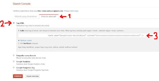Cara mendaftar dan memasang sitemap blog ke Webmaster Tools