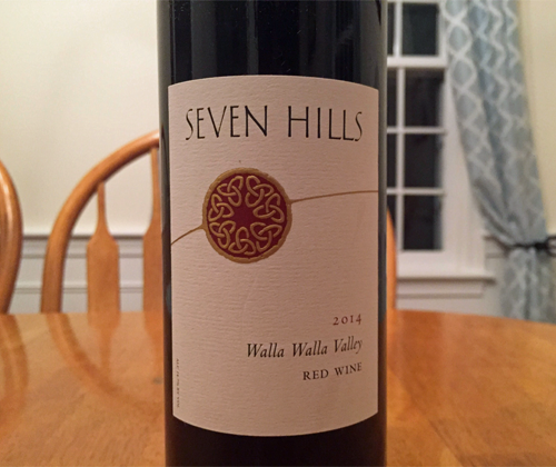 Seven Hills Walla Walla Valley Red Wine 2014