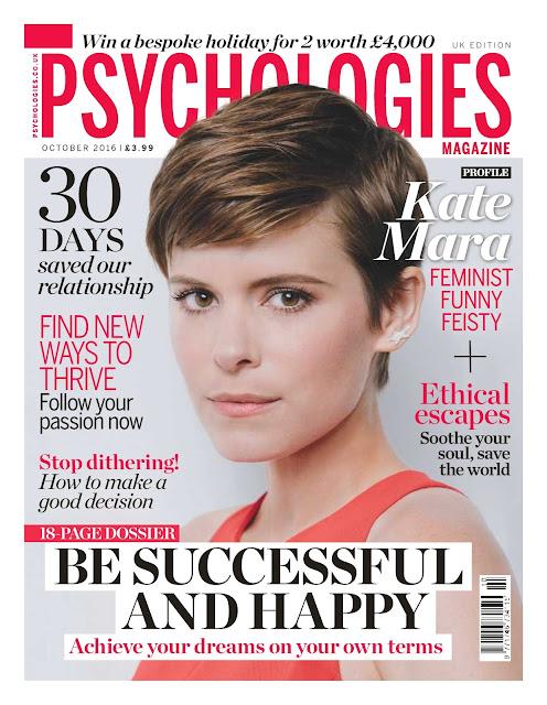 Actress, @ Kate Mara - Psychologies Magazine UK, October 2016.