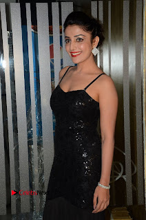 Actress Soniamann Pictures in Black Long Dress at Dr Chakravarthy Movie Audio Launch 0009