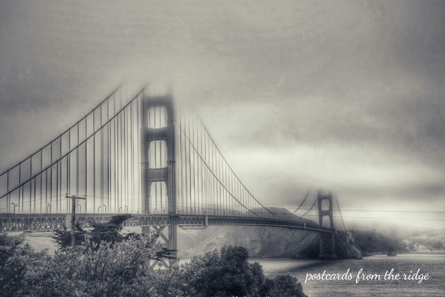 Golden Gate Bridge, San Francisco, CA. Things to be grateful for. Postcards from the Ridge.