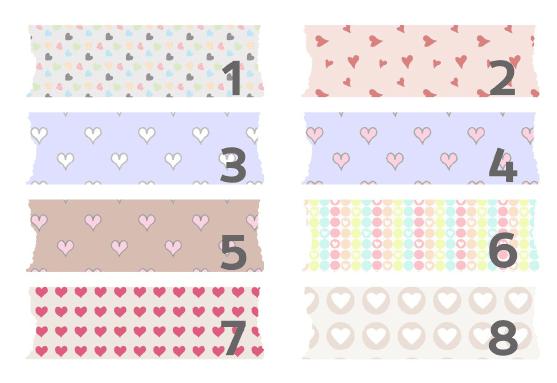 Washi-tape digital bonito con corazones para descargar gratis y usar en tu blog como fondo de títulos