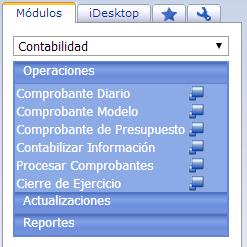 Módulo de Contabilidad - Productos Web de eFactory: ERP/CRM, Nómina, Contabilidad, Punto de Venta, Productos para Móviles y Tabletas
