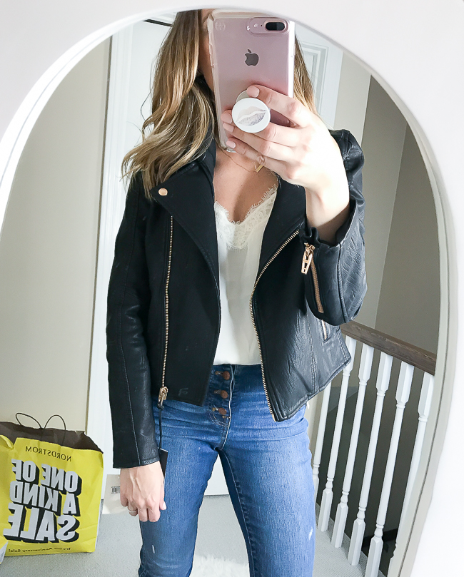 Faux Leather Jacket #nsale #fallstyle