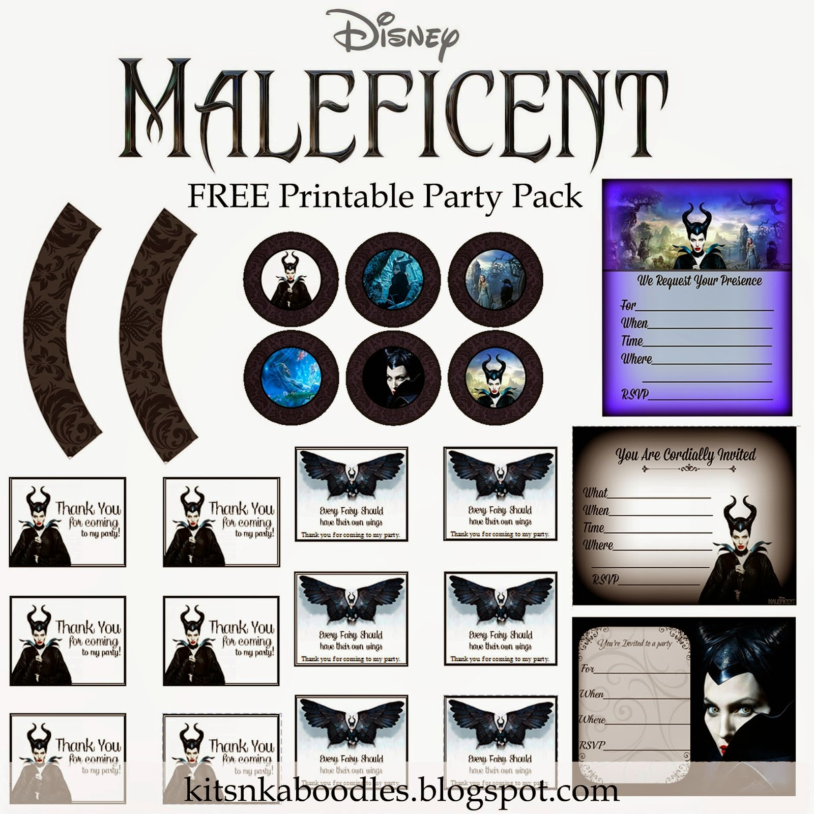 Maleficent Free Printable Kit Oh My Fiesta In English