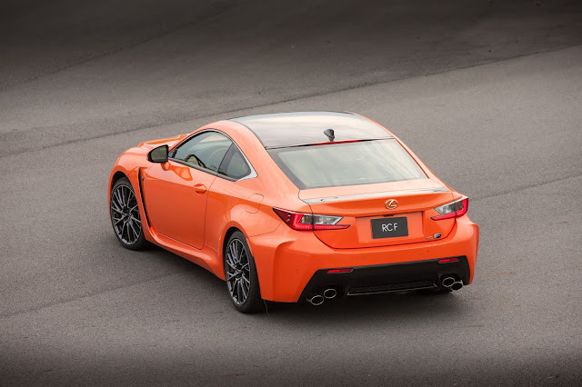 Rear 3/4 view of 2016 Lexus RC-F