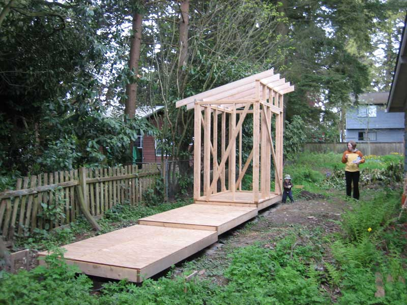 The Rat Hole Shed Part 4 Roof Framing