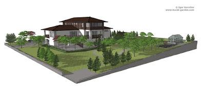 3D визуализация сада