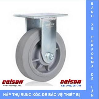 Bánh xe đẩy cao su Performa chịu tải trọng (158~304kg) www.banhxepu.net