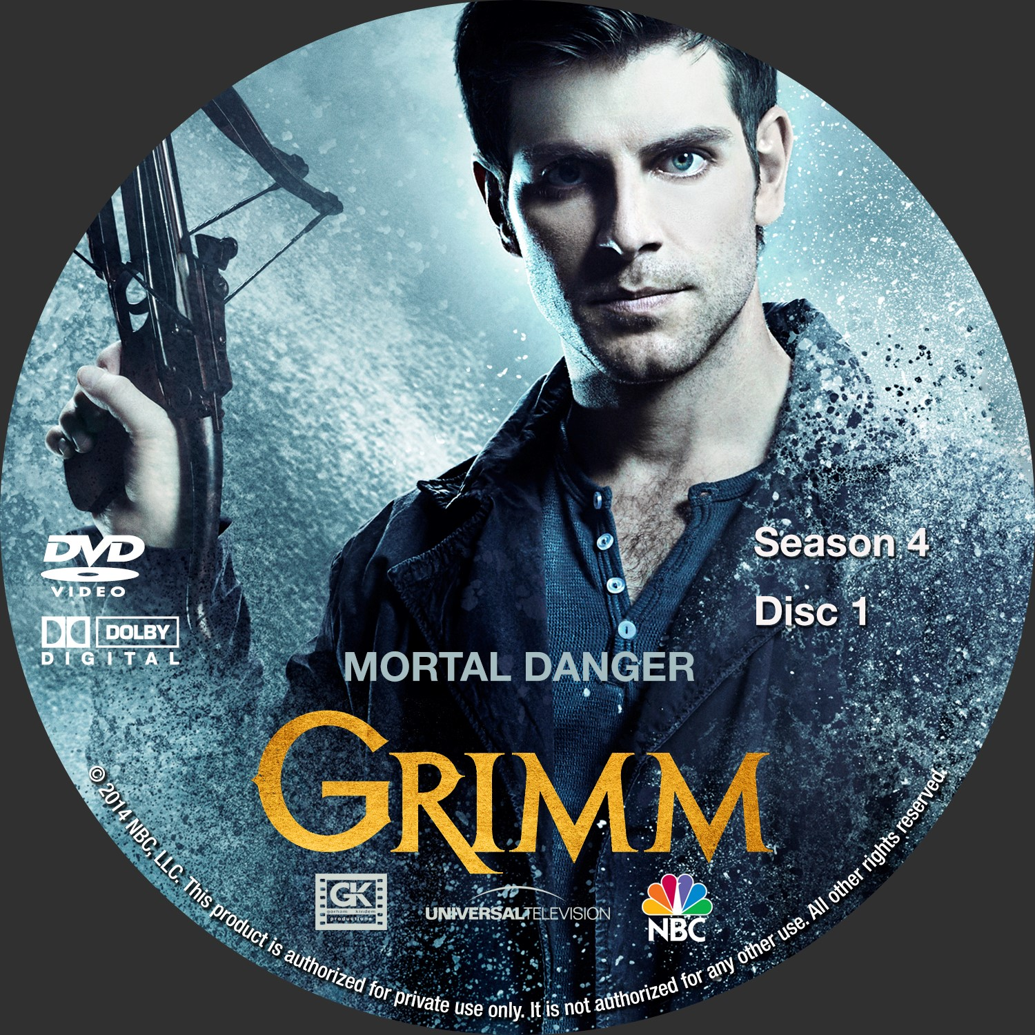 Label DVD Grimm Quarta Temporada D1 a D5