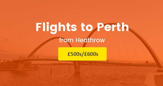 Direct return flights from the Heathrow to Perth £500s/£600s