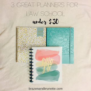 3 great planners for law school under $30 | brazenandbrunette.com