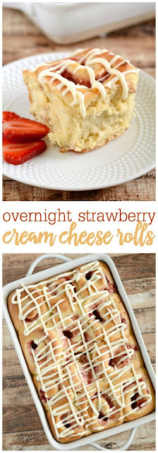 Overnight Strawberry Cream Cheese Rolls