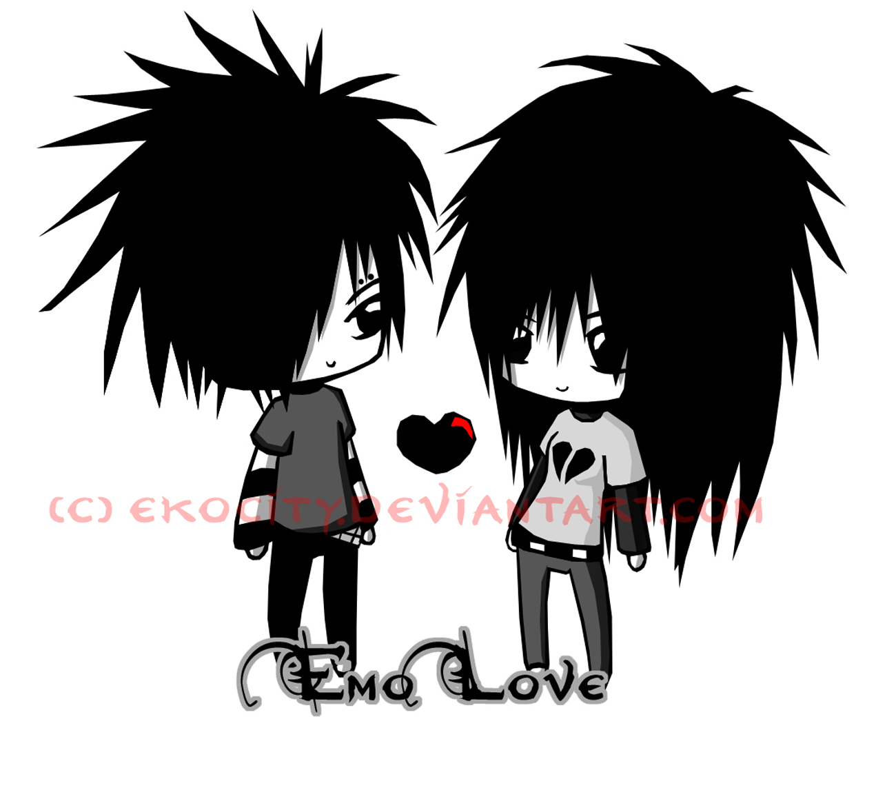Download free wallpapers emo love - Emo anime wallpaper ...
