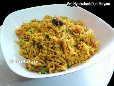 Veg Hyderabadi Biryani Recipe