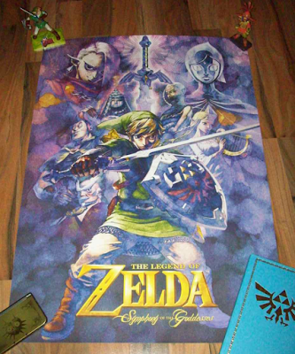 The Legend of Zelda Symphony of the Goddesses poster Master Quest memorabilia