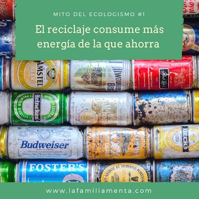 Mito del ecologismo #1: El reciclaje consume más energía de la que ahorra