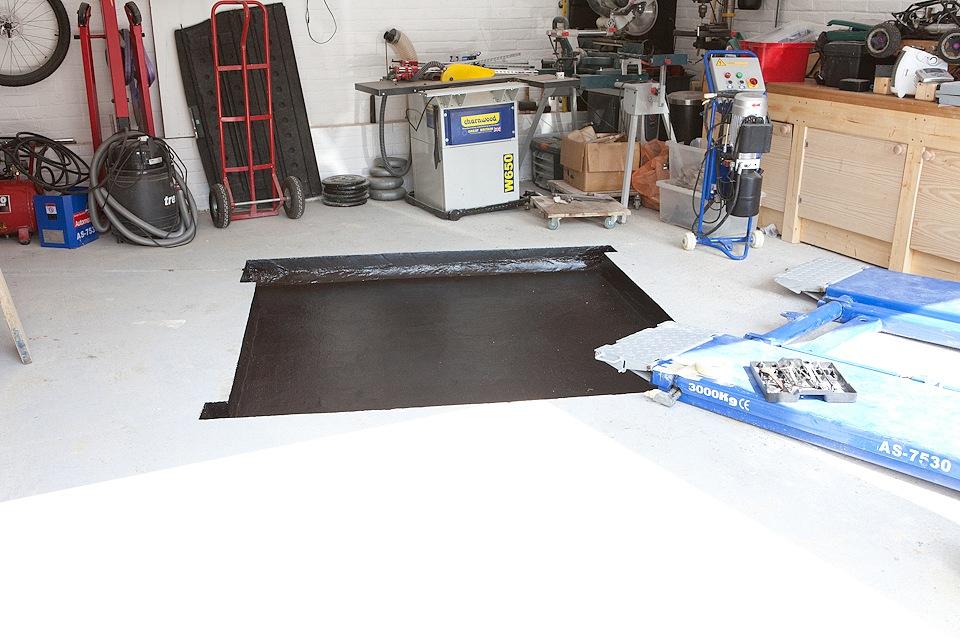 Garage Makeover In Floor Scissor Lift