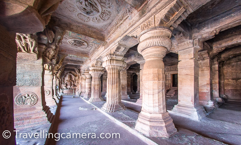 The largest cave in Badami is Cave 3, featuring Vishnu-related mythology, and it is also the most intricately carved cave in the complex. Badami Cave 4 is dedicated to revered figures of Jainism.