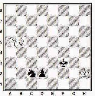 Estudio artístico de ajedrez compuesto por Karl Lorenz Jesper Jespersen (1890)