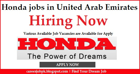 Honda Jobs in United Arab Emirates