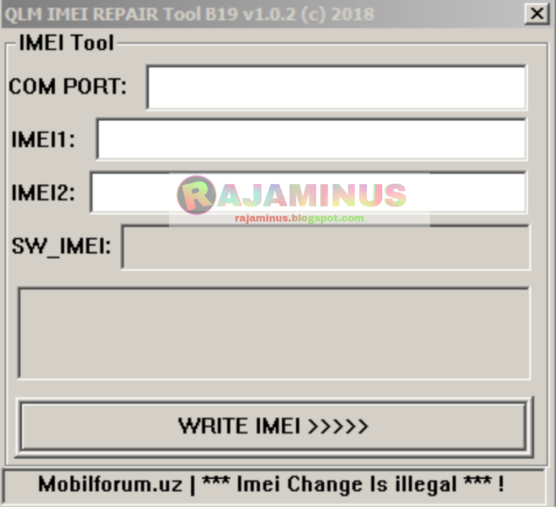 QLM IMEI REPAIR TOOL V1 0 2 - Adamsoft-X