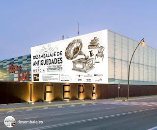 Vista de IFEPA en Murcia para el 16 desembalaje de Antiguedades