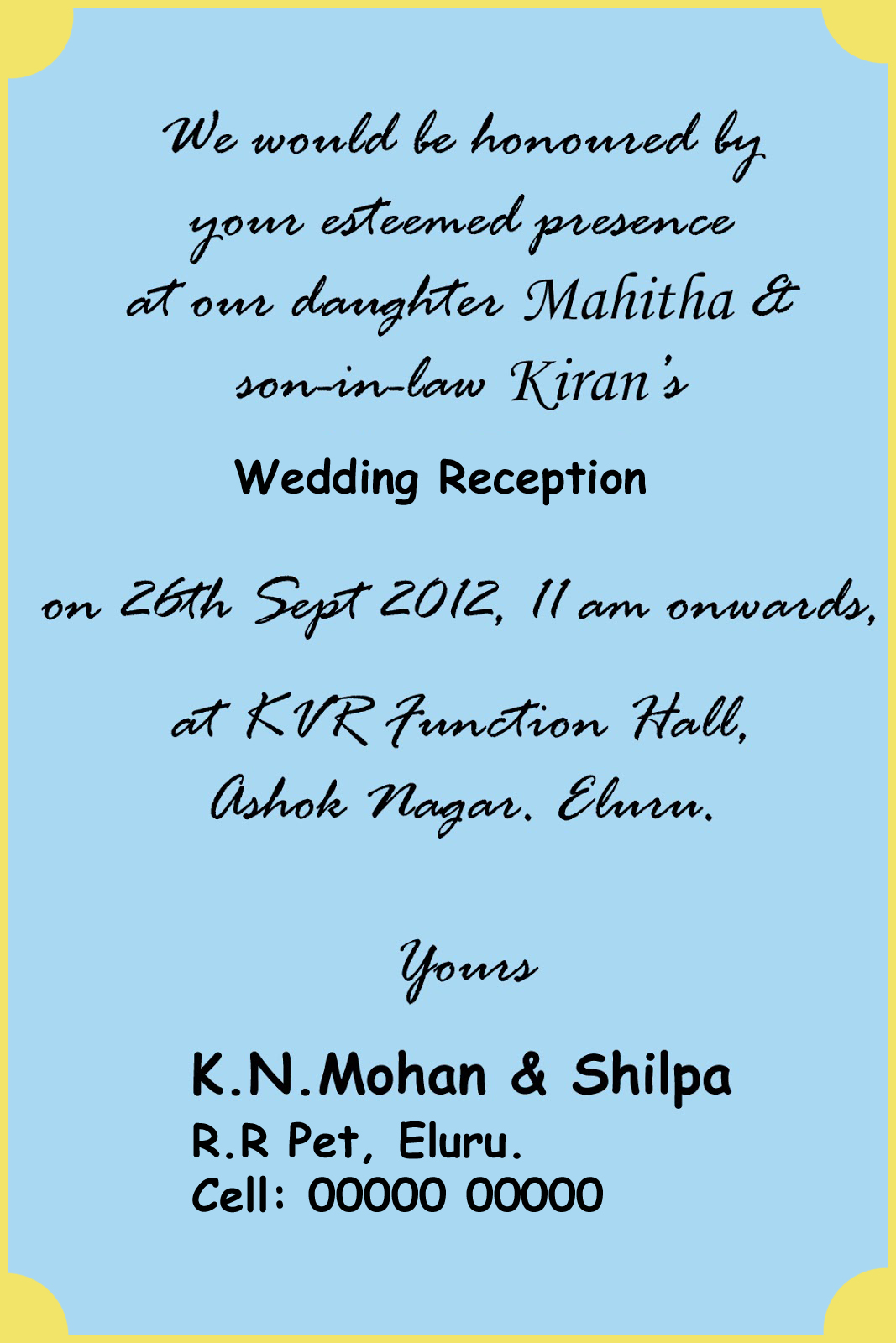 Hindu Wedding Card Matter In English For Friends - Unique Wedding Ideas