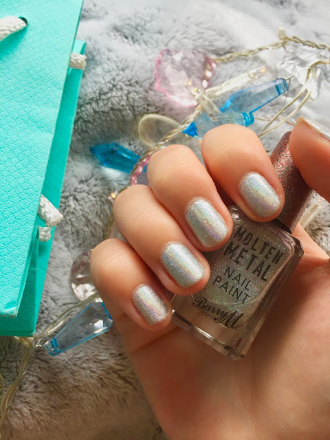 Barry M Molten Metal Holographic Lights Nail Paint Review
