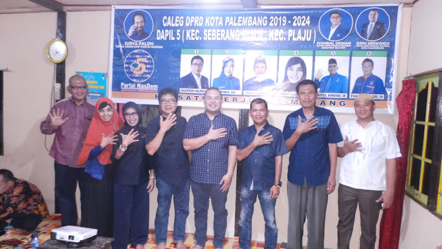 Ketua DPD Partai NasDem Kota Palembang Lakukan Konsolidasi ke DPC dan DPRT