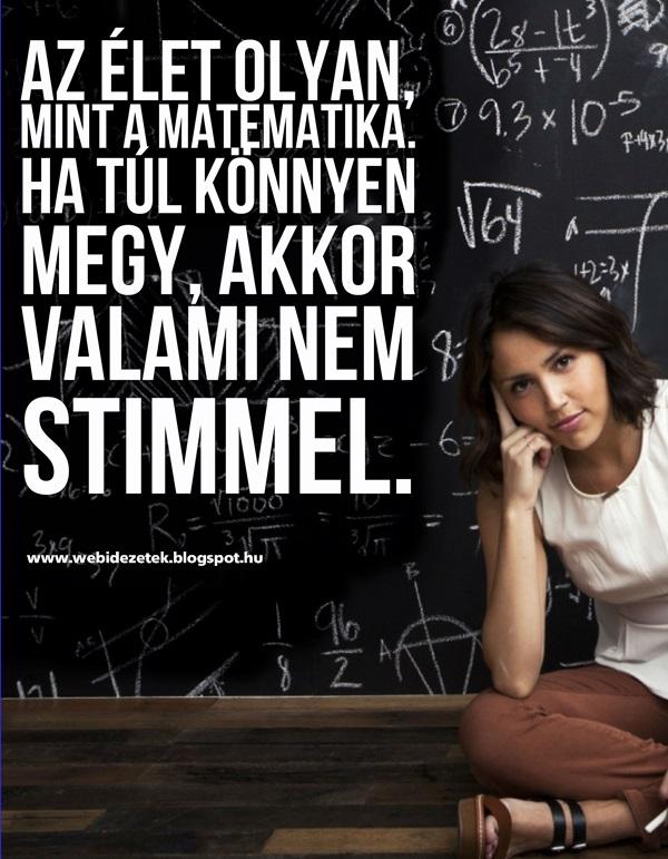 idézetek matematika Az élet olyan, mint a matematika | Képes Idézetek