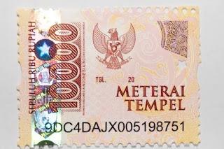 Meterai Rp 10.000 Dikeluarkan, Lihat Berikut Cara Menggunakannya