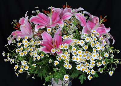 Lily and Chamomile Wedding Bouquet