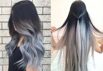Gray Hair Color Ombre - Hair Color Trend 2017 for Tan Skin