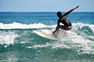 Surfing at Sabang Beach Baler
