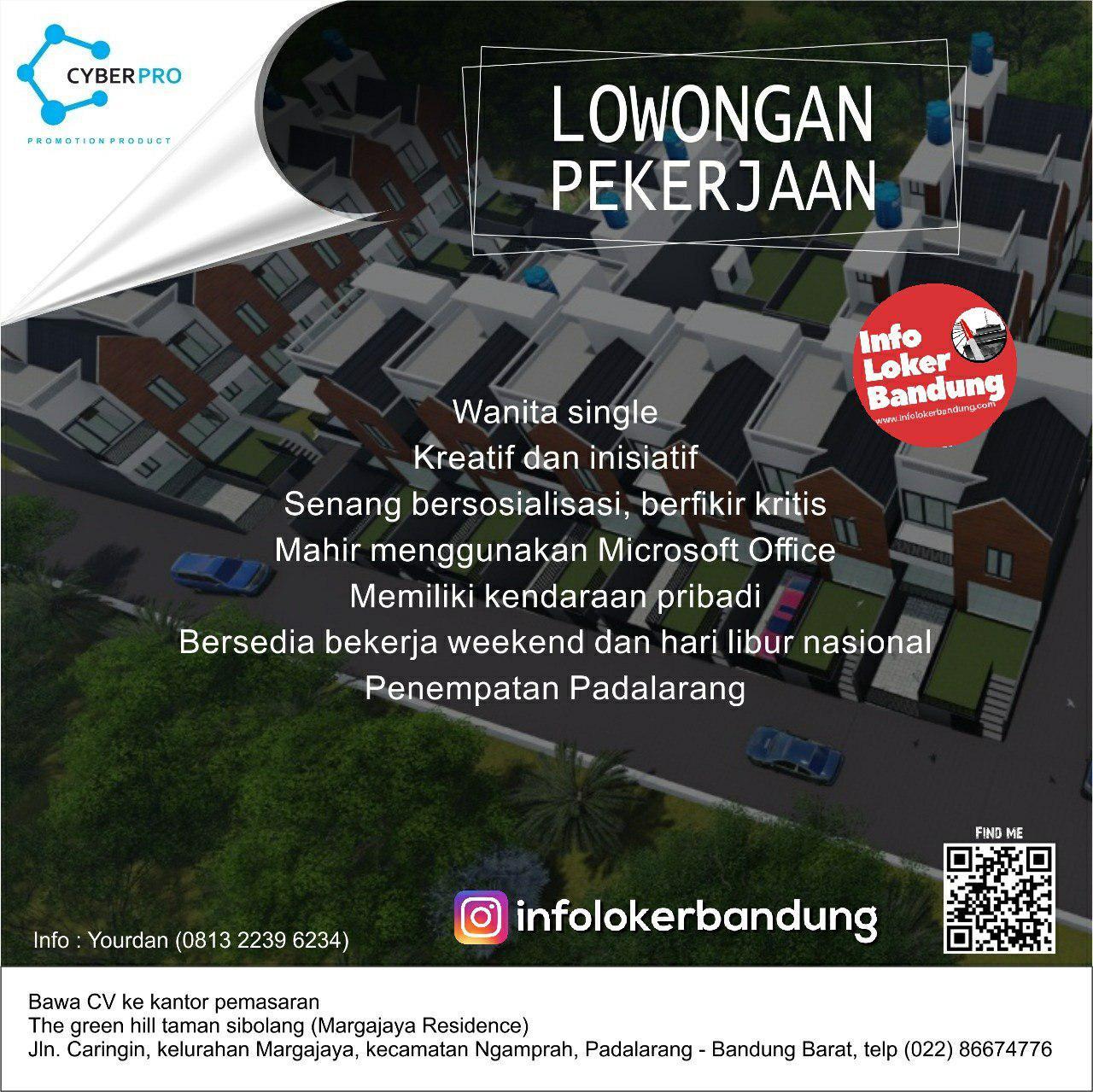Lowongan Kerja Business Development Officer Cyber Pro Bandung Februari 2019