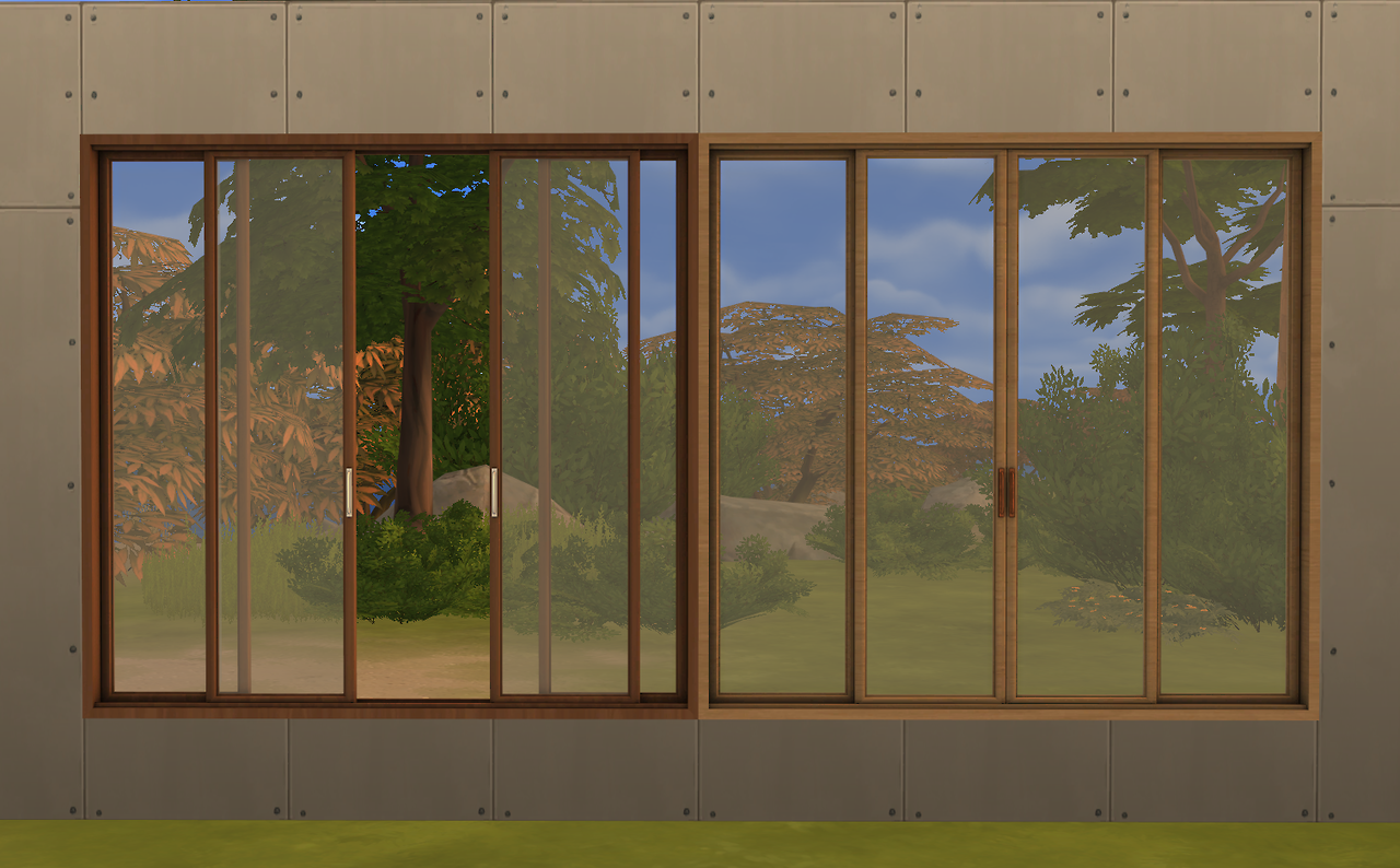 Sims 4 cc 39 s the best sunset windows and doors by minc78 for Ideal windows and doors