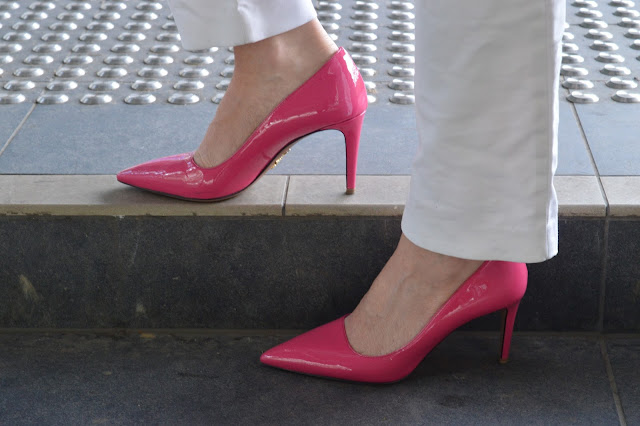 Sydney Fashion Hunter - The Wednesday Pants #41 - Made To Order Pink Prada Pumps